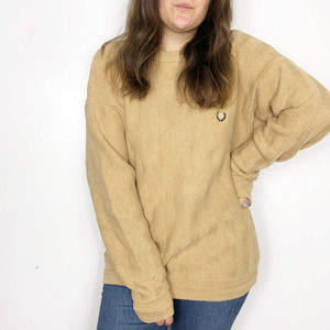 CHAPS   Cotton Camel Brown Chunky Textured Sweater